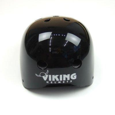 画像1: Viking スケートボード用ヘルメット【フリーサイズ】黒無地