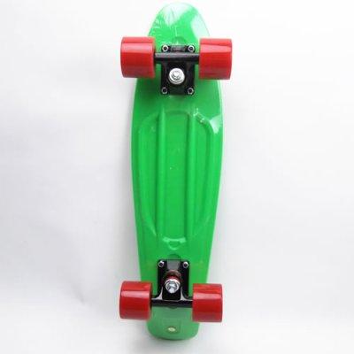 画像1: REKON22.5インチPENNYスケートボード・コンプリートモデル【緑赤】