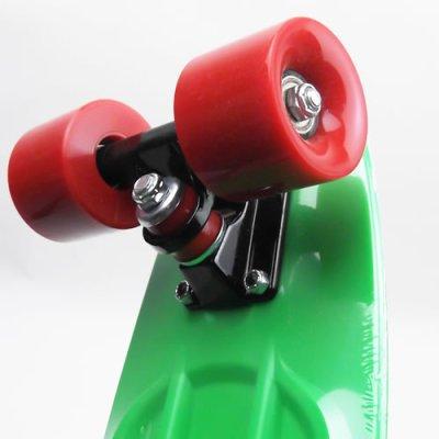 画像2: REKON22.5インチPENNYスケートボード・コンプリートモデル【緑赤】