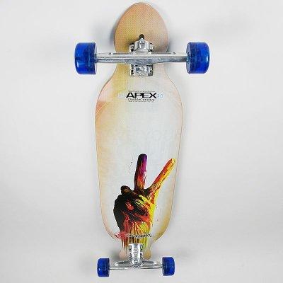 画像1: 40インチ オリジナル・スケートボード(Original Skateboards) APEX 40インチ・ダブルコンケーブ・コンプリートモデル