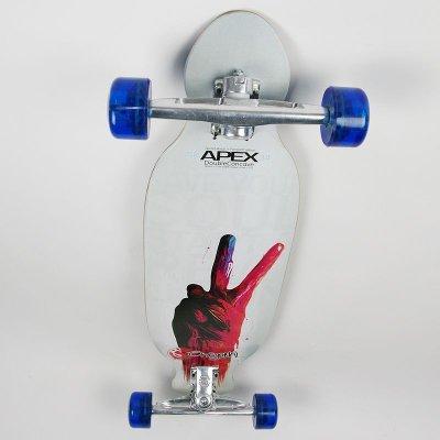 画像1: 【送料無料】34インチ オリジナル・スケートボード(Original Skateboards)社製 Apex34 Double Concave Super8コンプリート