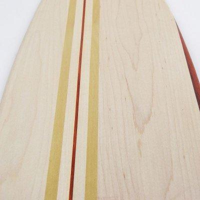 画像1: 27インチCB無垢材組木ミニクルーザー・スケートボードデッキ(ハンドメイド・アメリカ製)D