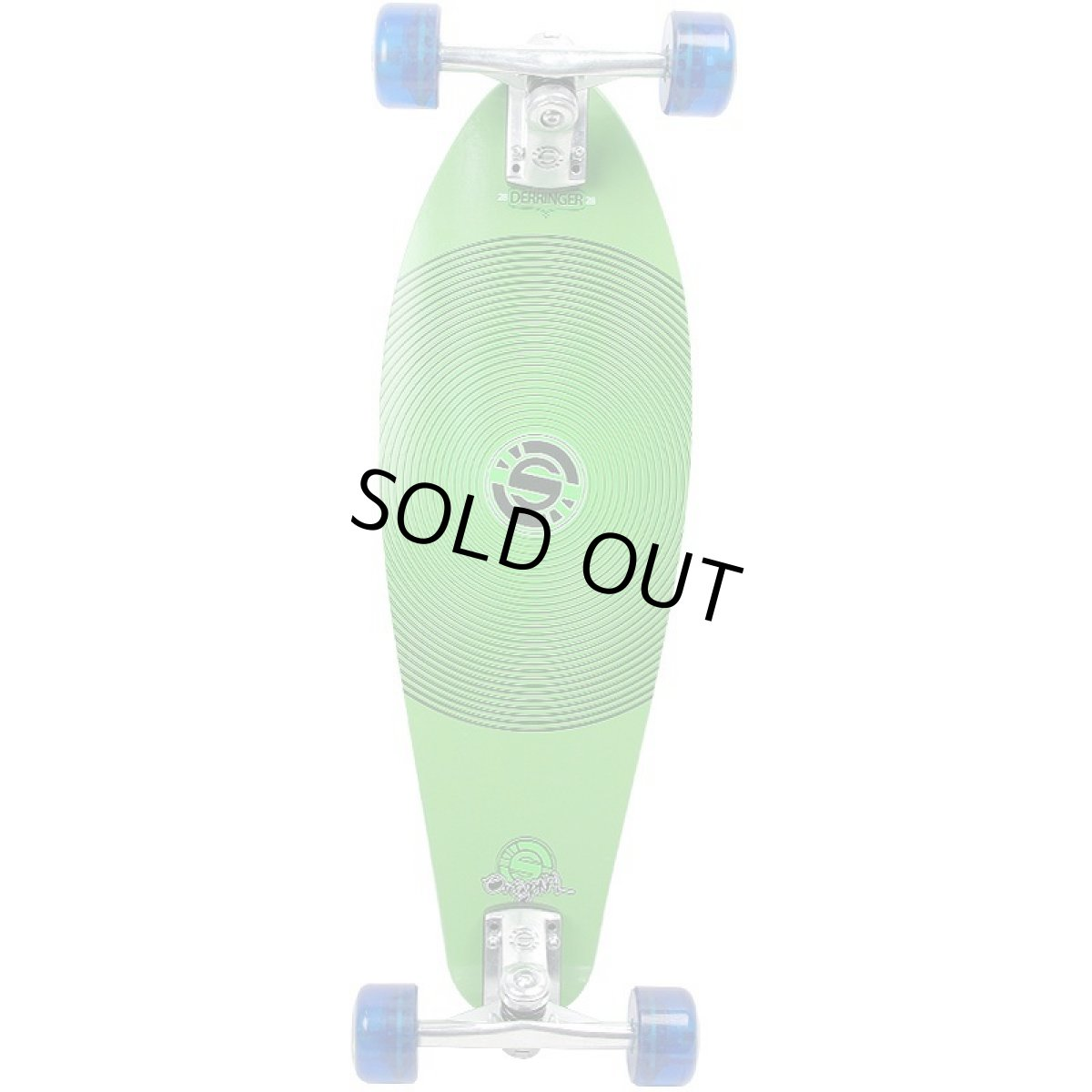画像1: 28インチ オリジナル・スケートボード(Original Skateboards)社製 Derringer Super6コンプリート【グリーン】 (1)