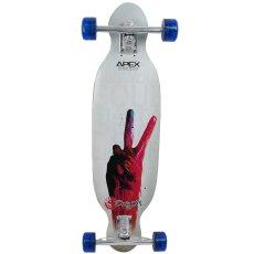 画像1: 【送料無料】34インチ オリジナル・スケートボード(Original Skateboards)社製 Apex34 Double Concave Super8コンプリート (1)
