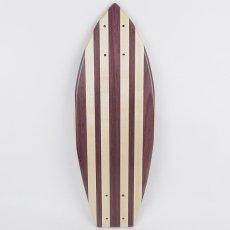 画像2: 22インチ無垢材組木ミニクルーザー・スケートボードデッキ(ハンドメイド・アメリカ製)E (2)