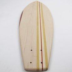 画像5: 27インチCB無垢材組木ミニクルーザー・スケートボードデッキ(ハンドメイド・アメリカ製)D (5)