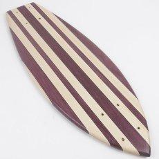 画像3: 22インチ無垢材組木ミニクルーザー・スケートボードデッキ(ハンドメイド・アメリカ製)E (3)
