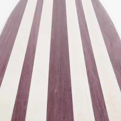 画像1: 22インチ無垢材組木ミニクルーザー・スケートボードデッキ(ハンドメイド・アメリカ製)E