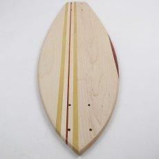 画像4: 27インチCB無垢材組木ミニクルーザー・スケートボードデッキ(ハンドメイド・アメリカ製)D (4)