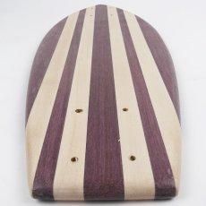 画像5: 22インチ無垢材組木ミニクルーザー・スケートボードデッキ(ハンドメイド・アメリカ製)E (5)