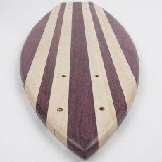 画像4: 22インチ無垢材組木ミニクルーザー・スケートボードデッキ(ハンドメイド・アメリカ製)E (4)