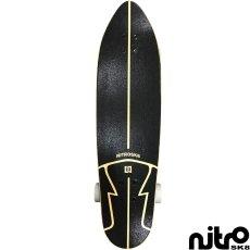 画像2: サーフスケート NitroSK8 スケートボード コンプリート Hermanos(ヘルマノス)モデル 34 x 10インチ (2)