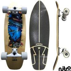 画像4: サーフスケート NitroSK8 スケートボード コンプリート Sirena(セレナ)モデル 35 x 10インチ (4)