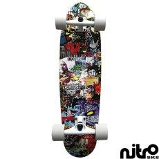 画像1: サーフスケート NitroSK8 スケートボード コンプリート Hermanos(ヘルマノス)モデル 34 x 10インチ (1)