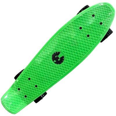 画像1: REKON22.5インチPENNYスケートボード・コンプリートモデル【緑黒】ウィール変更版