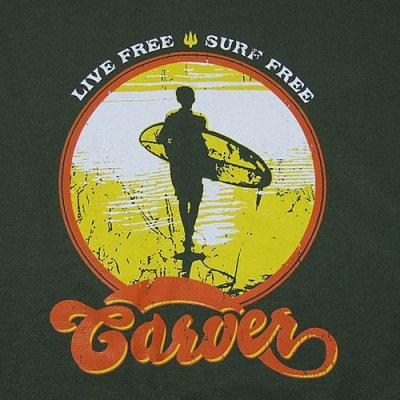 画像2: Carver (カーバー)Live Free Tシャツ