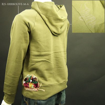 画像2: Jalian Pull-Over Hooded Swet (Olive) LサイズC