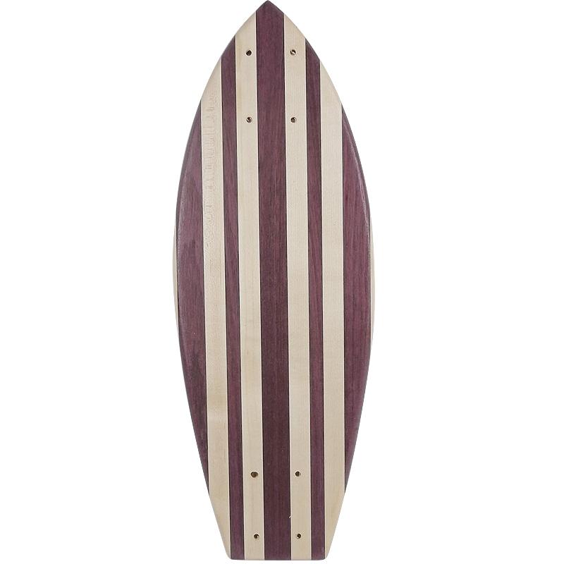 画像1: 22インチ無垢材組木ミニクルーザー・スケートボードデッキ(ハンドメイド・アメリカ製)E (1)