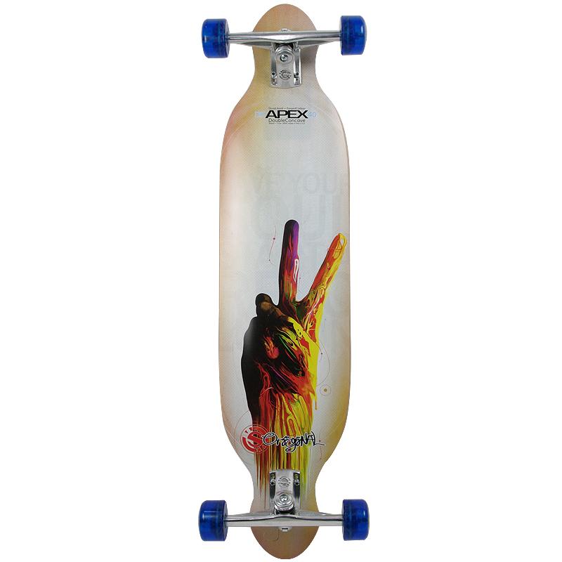 画像1: 40インチ オリジナル・スケートボード(Original Skateboards) APEX 40インチ・ダブルコンケーブ・コンプリートモデル (1)