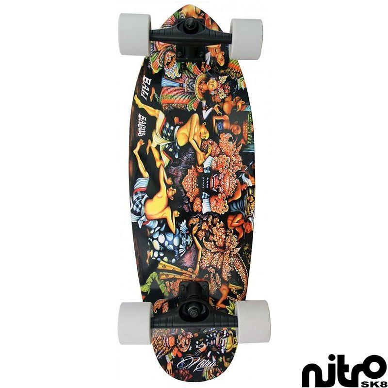 画像1: サーフスケート NitroSK8 スケートボード コンプリート Bali Bagus(バリ バグース)モデル28.5インチ x 9.5インチ (1)