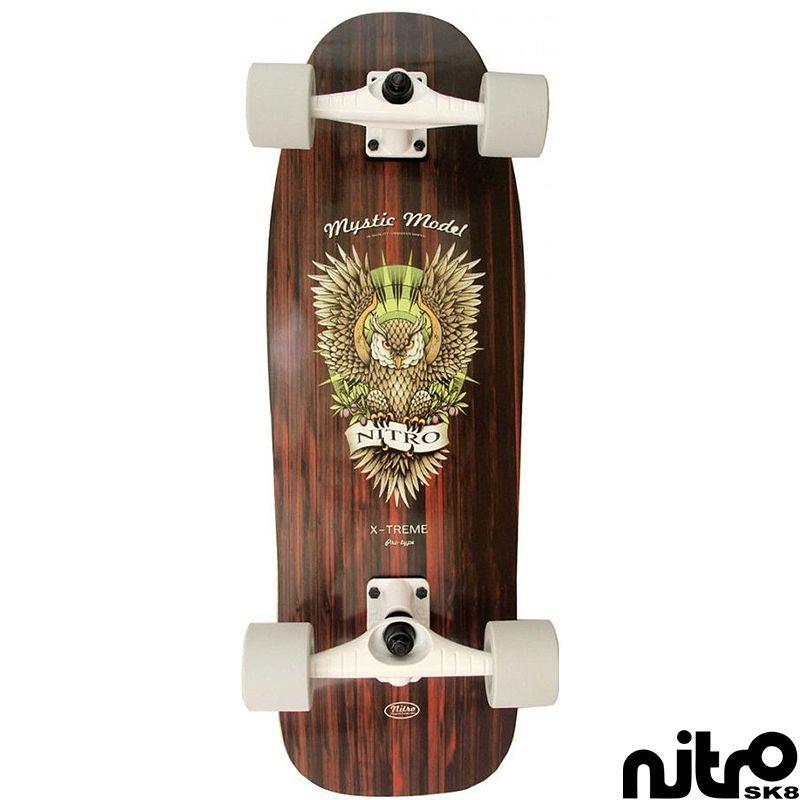 画像1: サーフスケート NitroSK8 スケートボード コンプリート Mystic(ミスティック)モデル 29.5 x 9.5インチ (1)