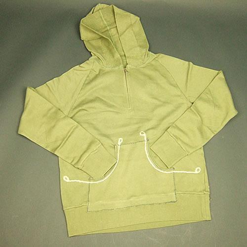 画像1: Jalian Pull-Over Hooded Swet (Olive) LサイズA (1)