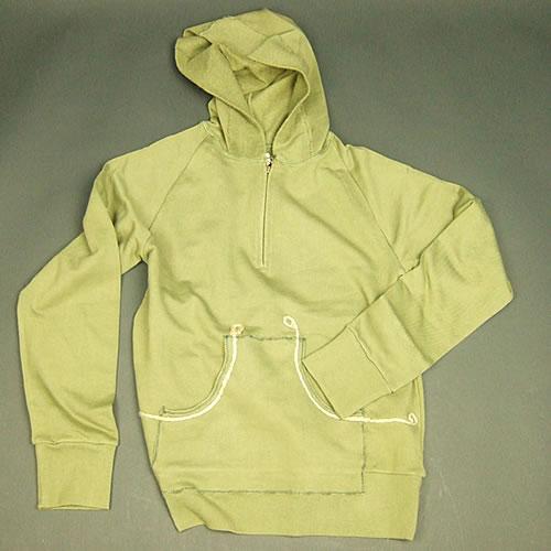 画像1: Jalian Pull-Over Hooded Swet (Olive) MサイズA (1)