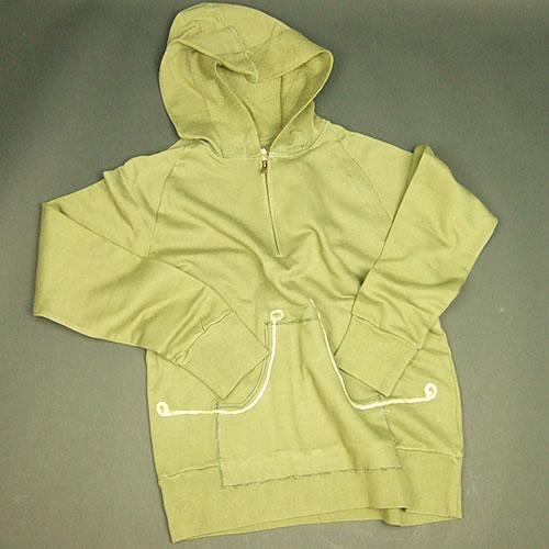 画像1: Jalian Pull-Over Hooded Swet (Olive) LサイズB (1)